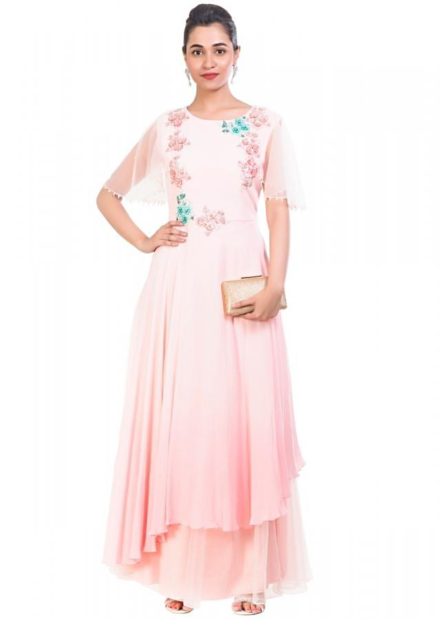 Blenched Almond Double Layered Gown