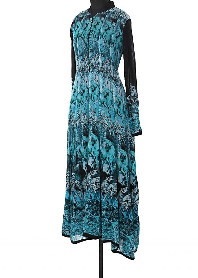 Blouse long kurti enahcned in print only on Kalki