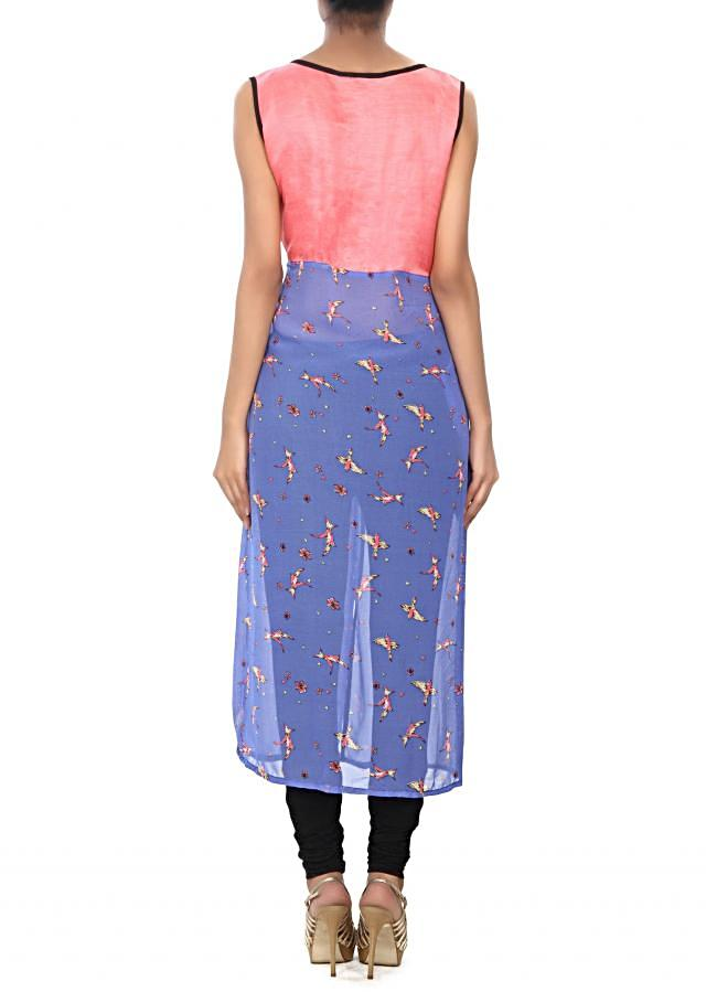 Blue kurti with butterfly print only on Kalki