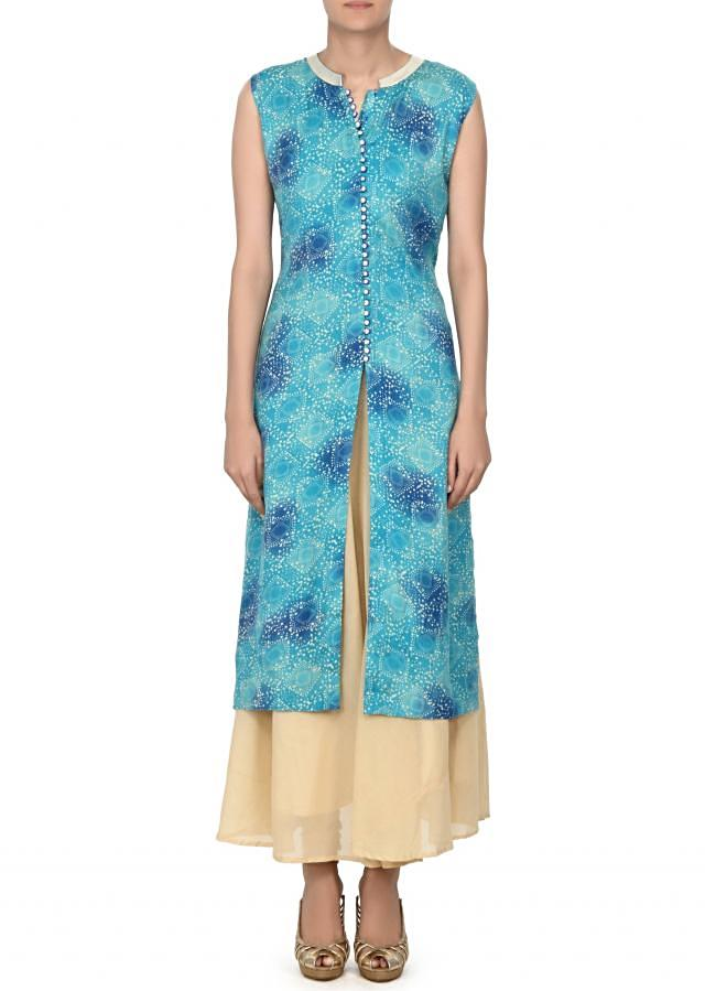 Blue pritned kurti matched with long inner only on Kalki