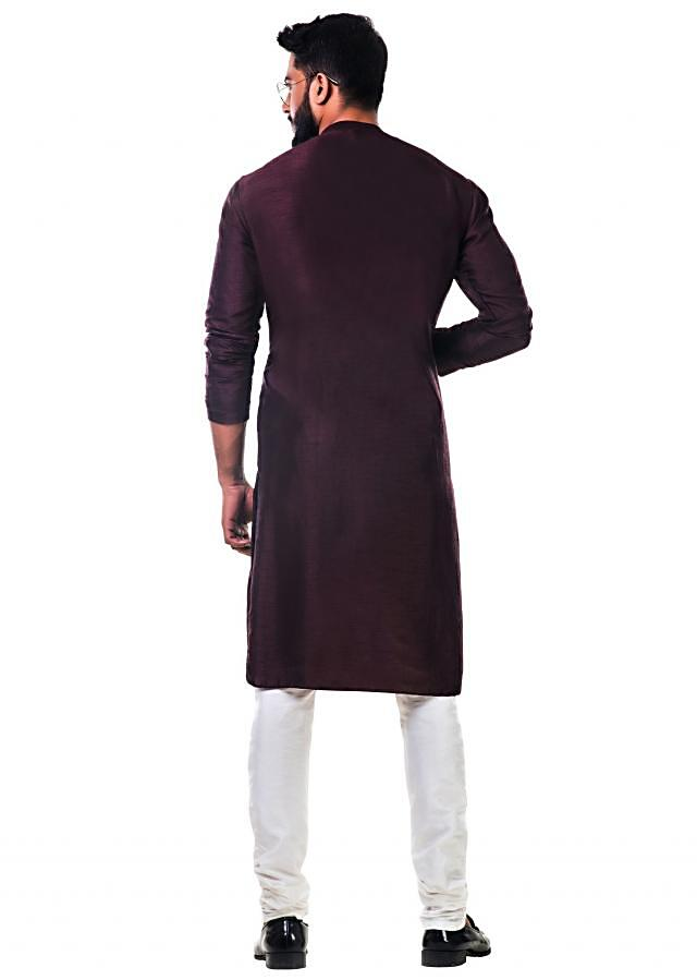 Brown cowl kurta set with a dual shaded drape only on Kalki