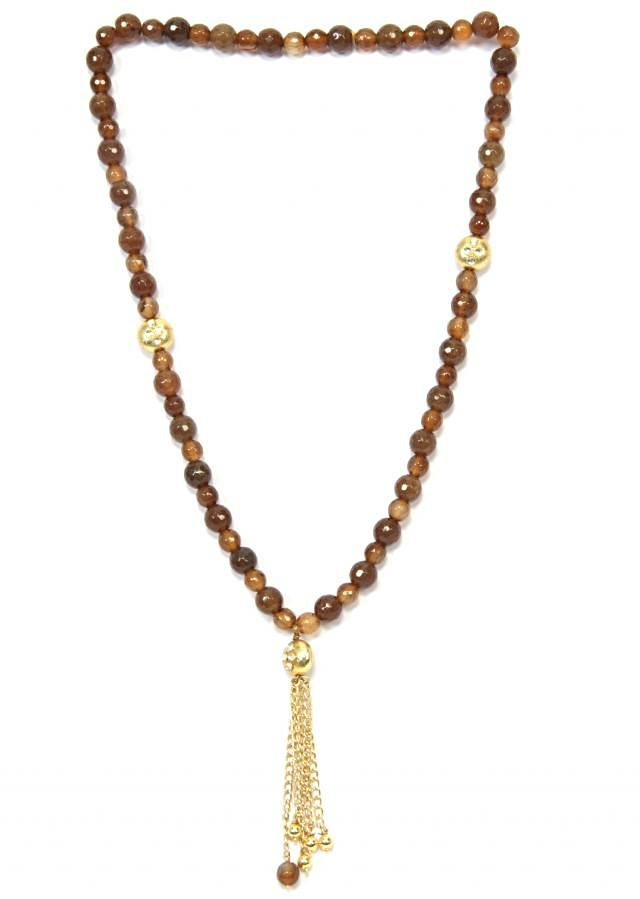 Brown Long Mala With A Dainty Hanging only on Kalki