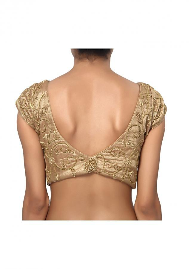 Copper colour modest and classy embroidered blouse