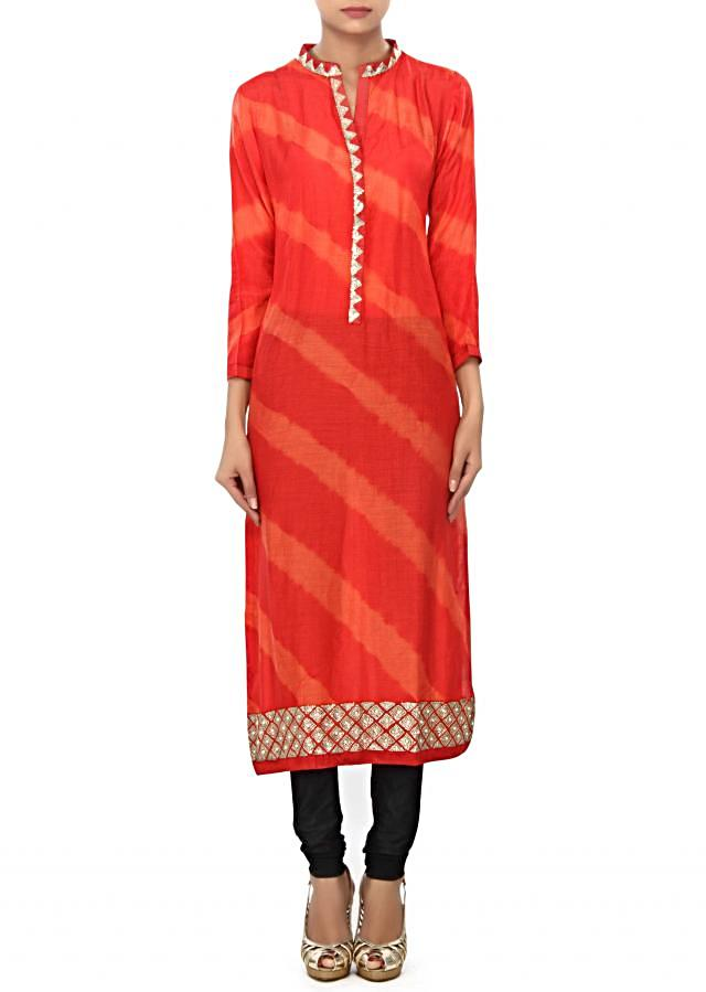 Coral kurti features with embellished placket only on Kalki