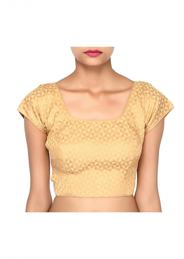 Cream and gold lurex blouse only on Kalki