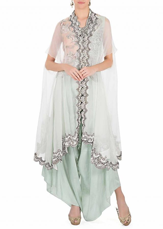 Helly Shah ice-mint three piece Indo-western look only on Kalki
