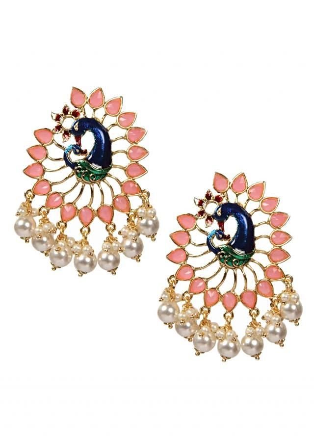 Dancing Peacock Stud earrings