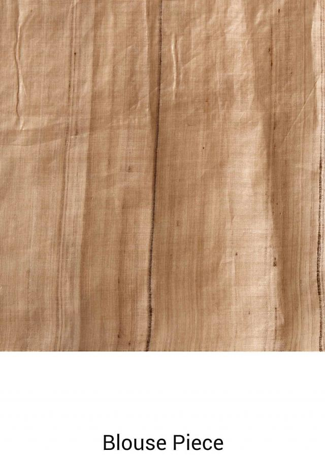 Peach pink saree in thread embroidery only on Kalki