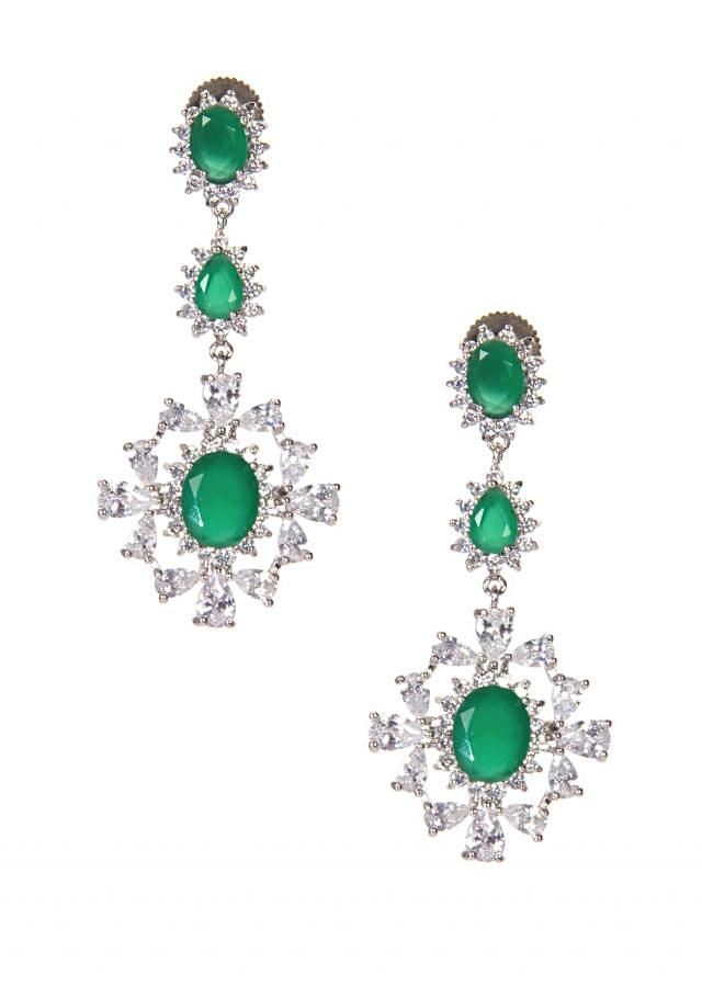 Diamond Jewel Studded With Water Green Gems only on Kalki