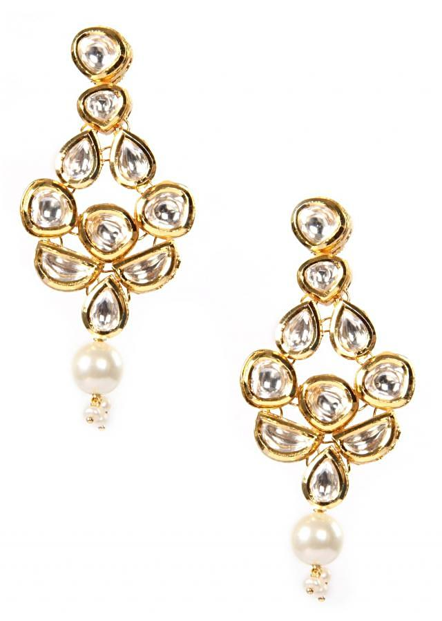 Earrings With Meenakari Work And Micron Gold Plating