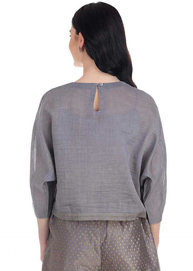 easy breezy chic chanderi top designed to perfection