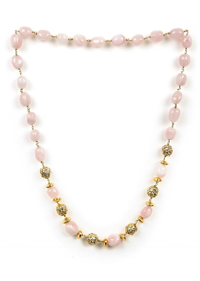 Elegant pink beaded necklace only on Kalki
