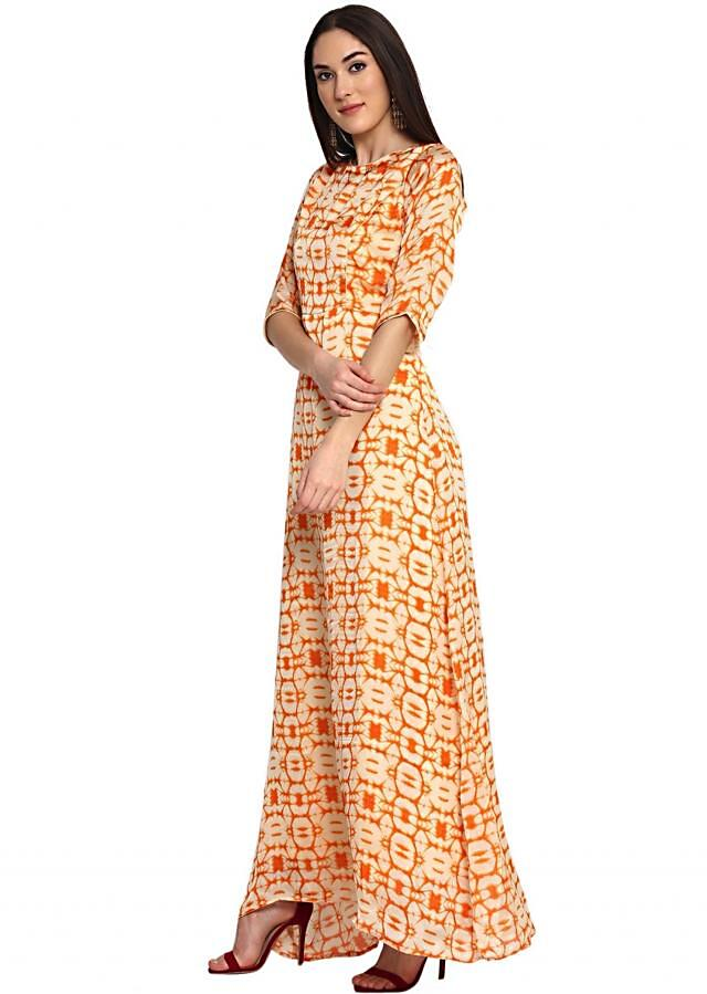 Faun Orange Printed Maxi Dress