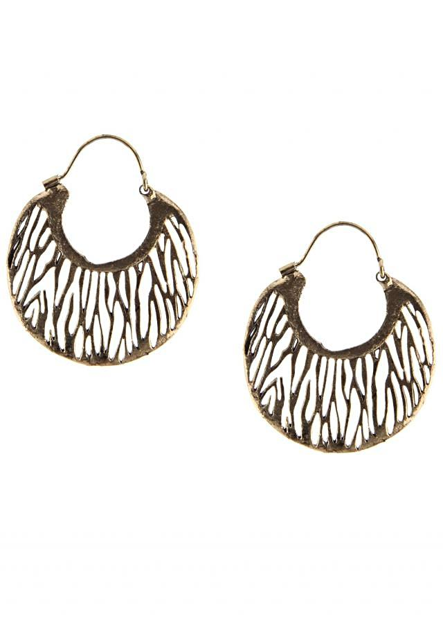 Featuring antique gold earring only on Kalki
