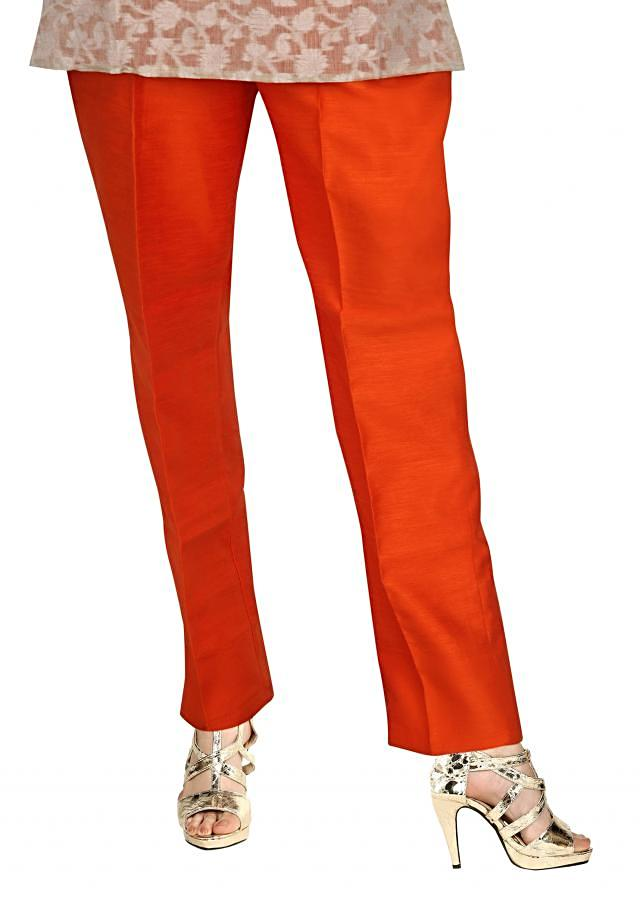Featuring coral silk pant only on Kalki