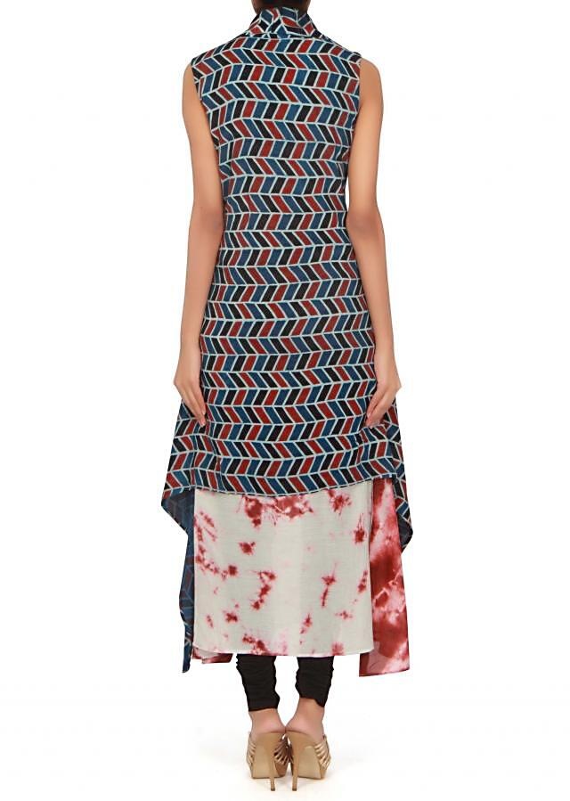 Featuring cream kurti with fancy jacket only on Kalki