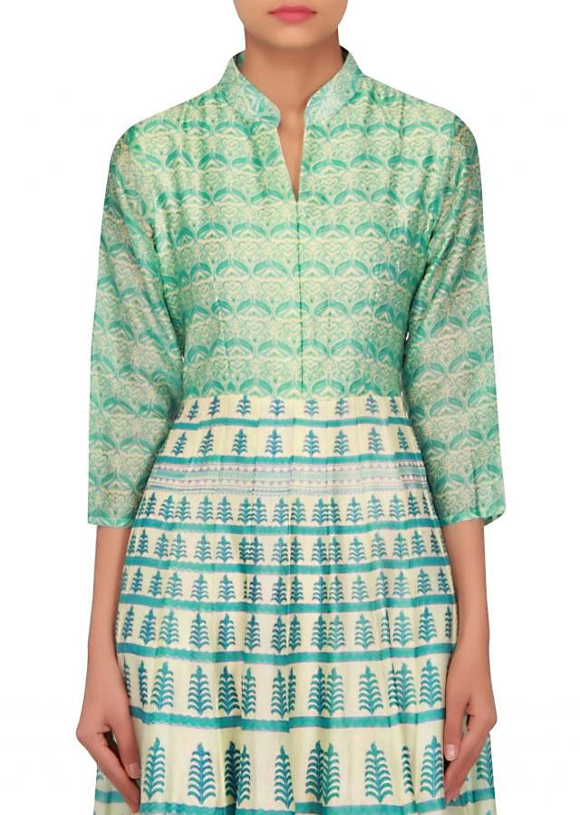 Featuring cream printed dress only on Kalki