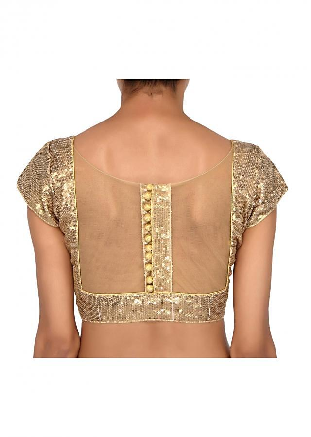Featuring gold sequin blouse only on Kalki