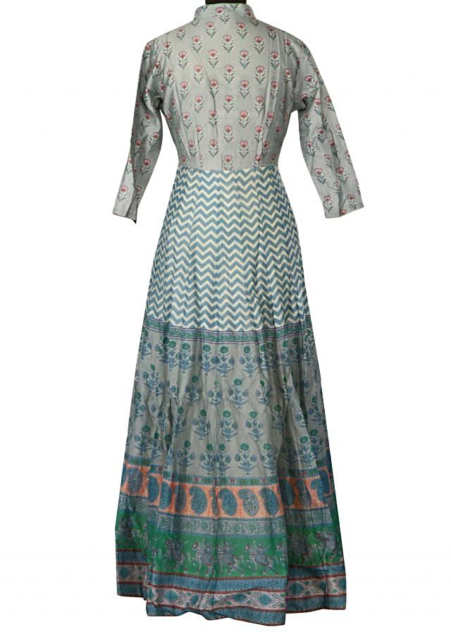 Featuring grey printed dress only on Kalki