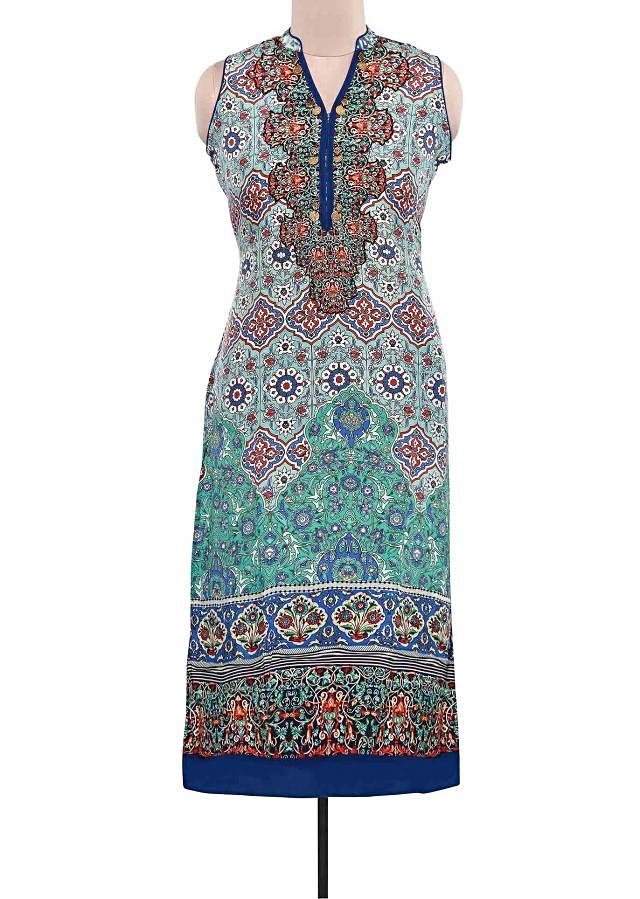 Featuring multi color printed kurti only on Kalki