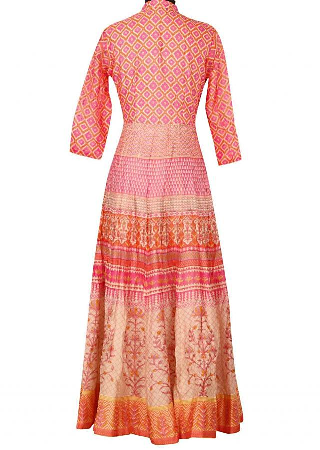 Featuring multi color printed dress only on Kalki