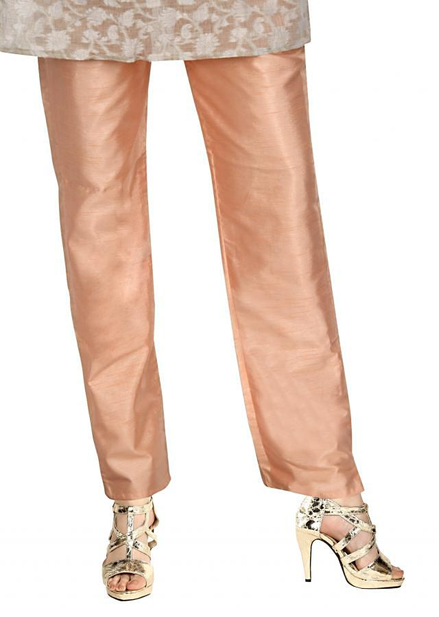Featuring peach silk pant only on Kalki