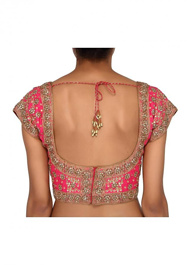 Featuring pink embroidered blouse only on Kalki