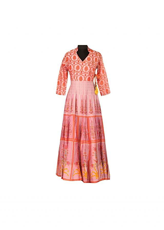 Featuring purple angarkha kurti in print only on Kali