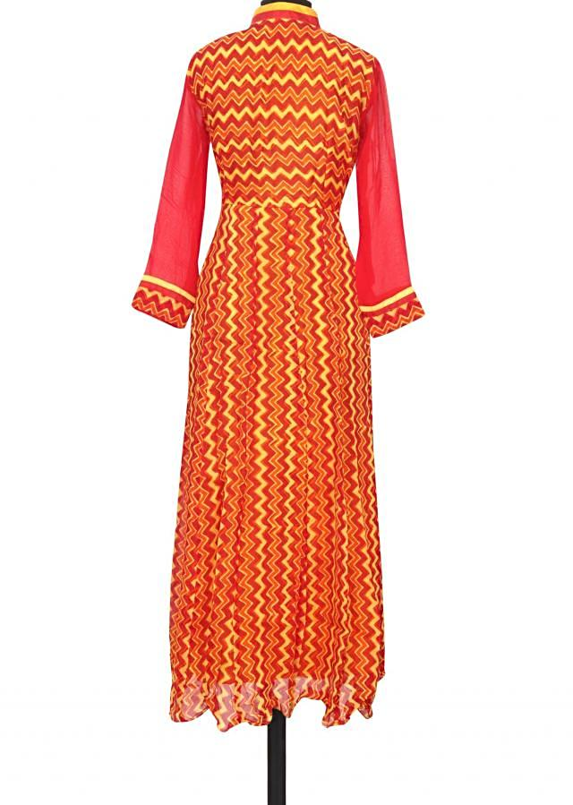 Featuring red and yellow printed kurti only on Kalki
