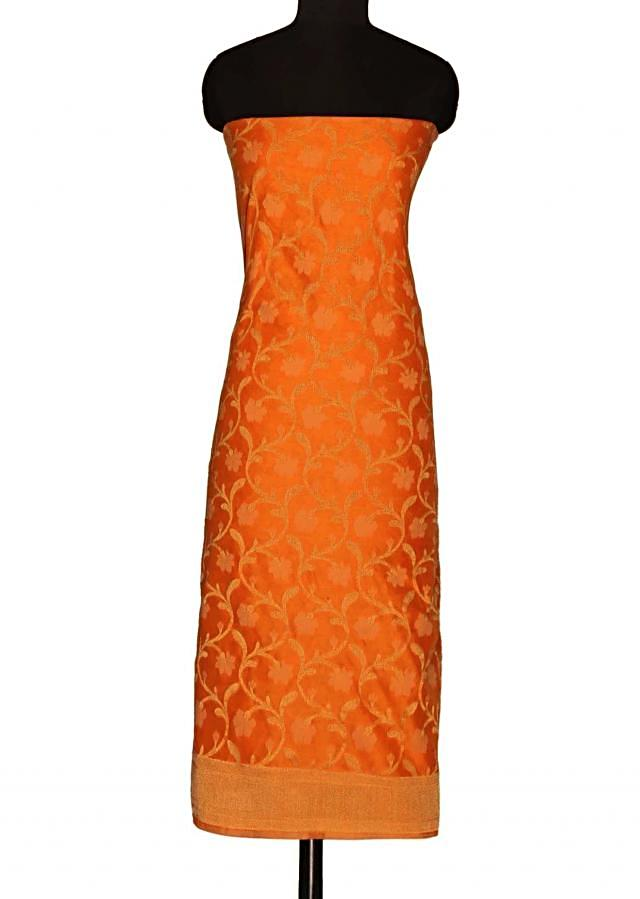 Featuring unstitched suit in orange only on Kalki