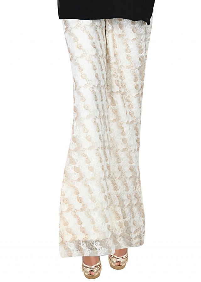 Featuring white and gold palazzo pant only on Kalki