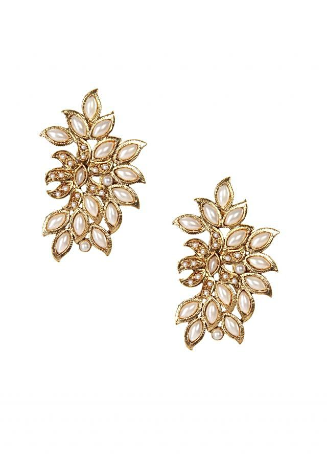 Featuring pearl cut out earring only on Kalki