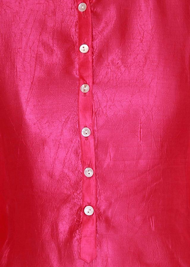 Fuschia pink kurti highlighted in placket only on Kalki