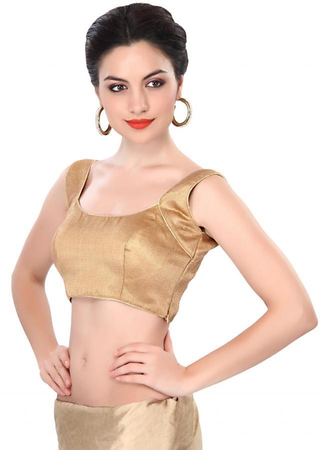 Gold blouse embellished in princes line only on Kalki