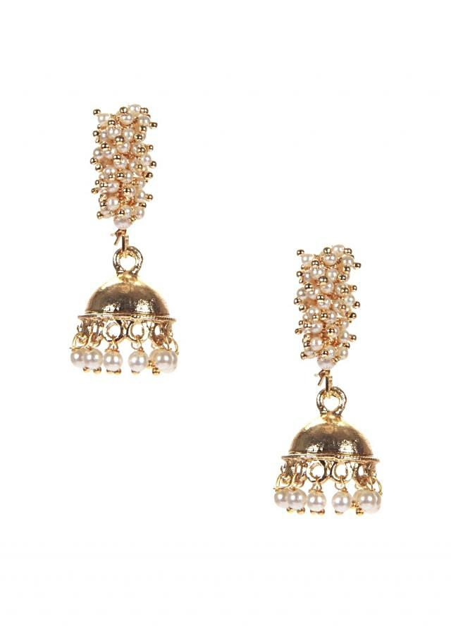 Gold Jhumki With Pearl Hanging and Ghanthan only on Kalki