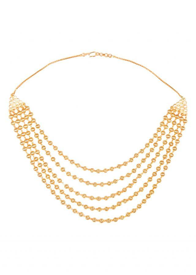 Gold Beaded 4 Layer Necklace only on Kalki