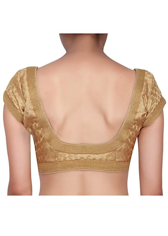 Gold blouse in brocade only on Kalki