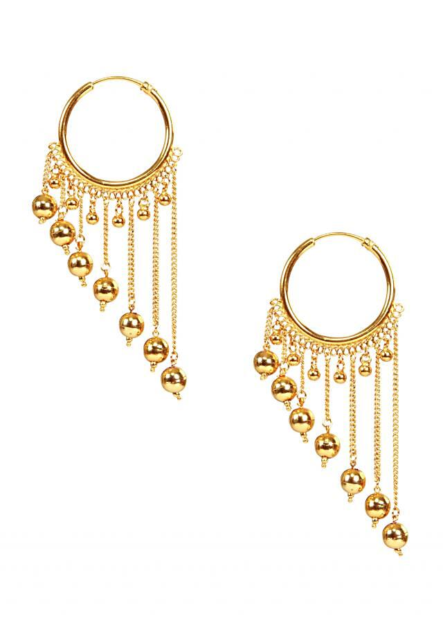Gold plated jhalar bali by Ra Abta for Kalki