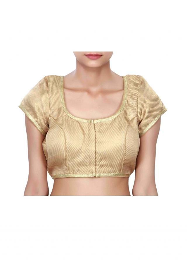 Gold princes line blouse enhanced in lace only on Kalki