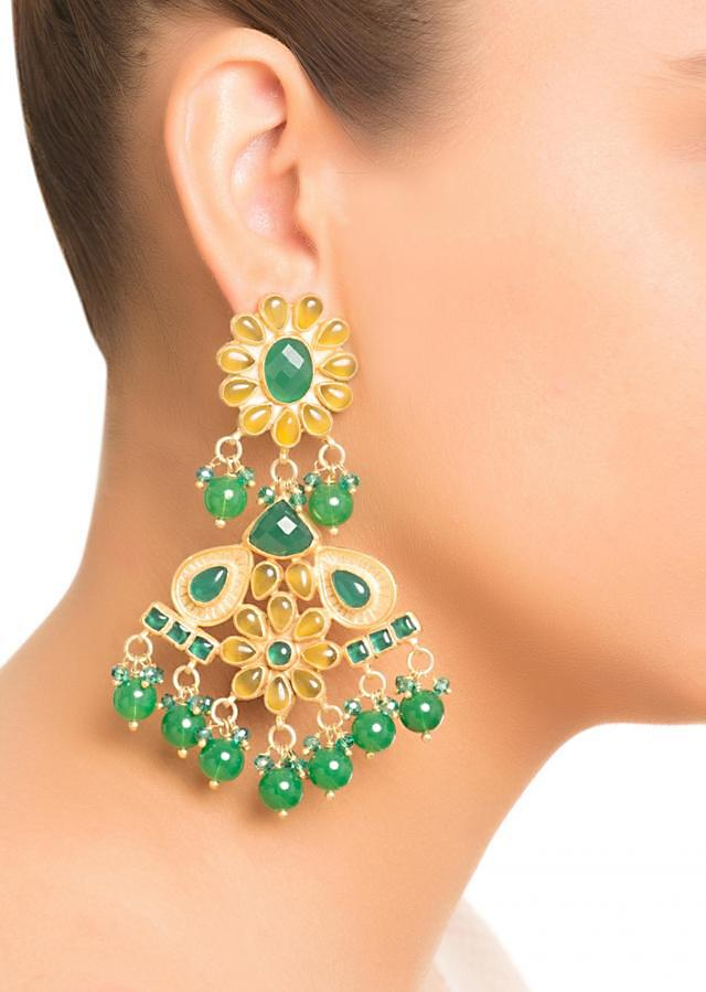 Green Stone Designer Earrings
