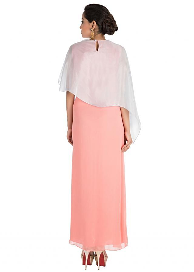 Pinkish Peach Dress With Hand Embroidery Online - Kalki Fashion