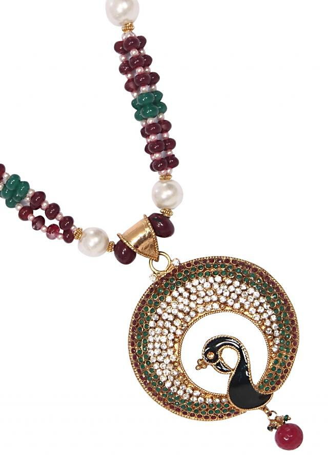 Handmade Necklace with Glass Pearls Traditional Beads and other Metal only on Kalki
