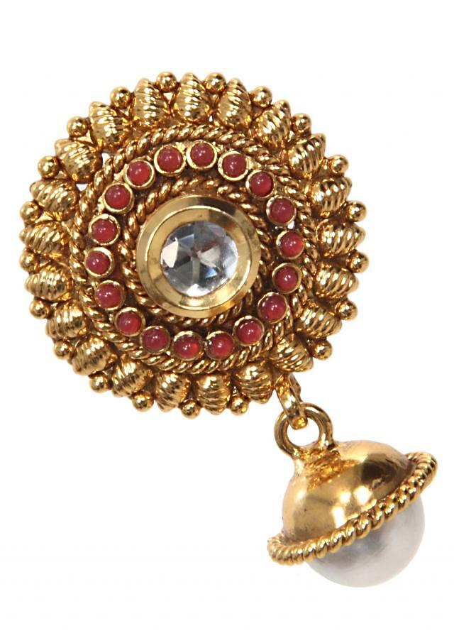 Handmade Traditional Jhumki with Pearl Drop only on Kalki