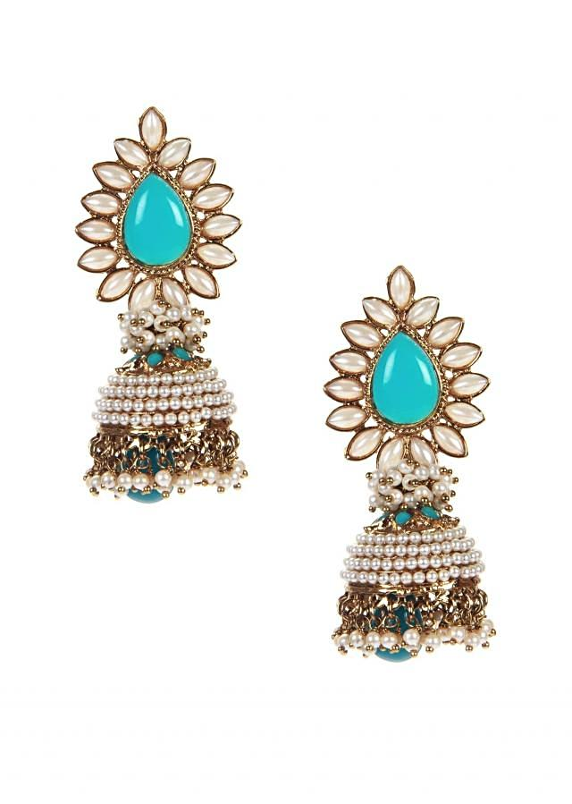 Indo Western Jhumki With Turquoise Drop only on Kalki