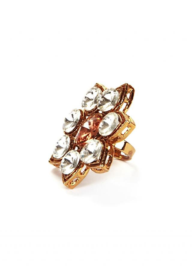 Indo-Western Yellow Topaz Ring only on Kalki
