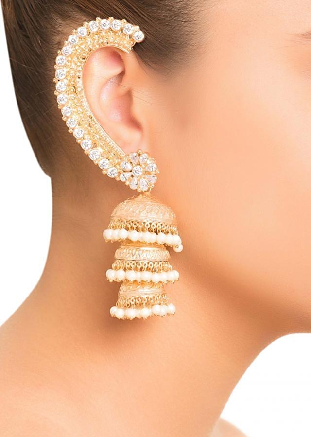 Jhumkis With Ear Cuff