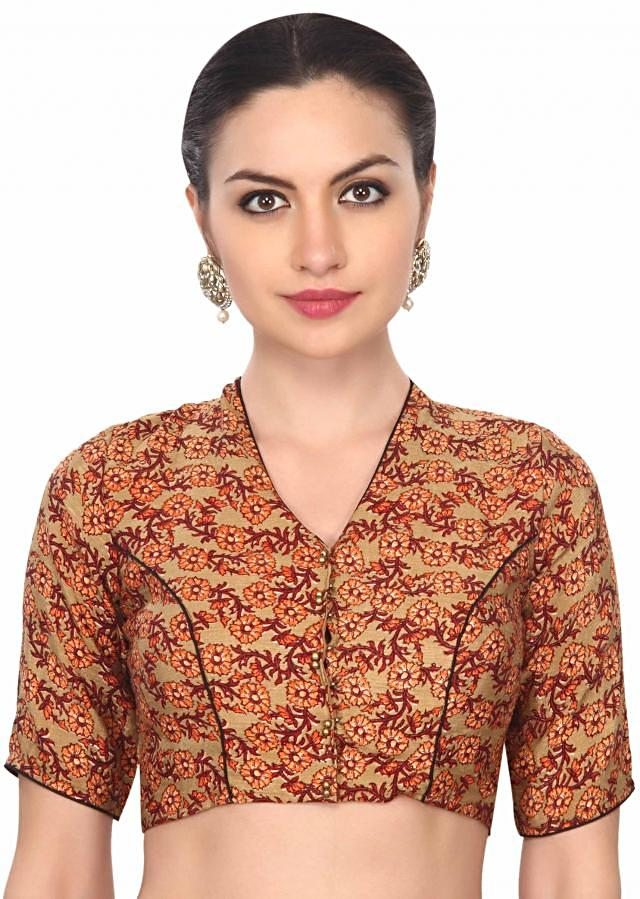 Khadi look floral blouse only on Kalki