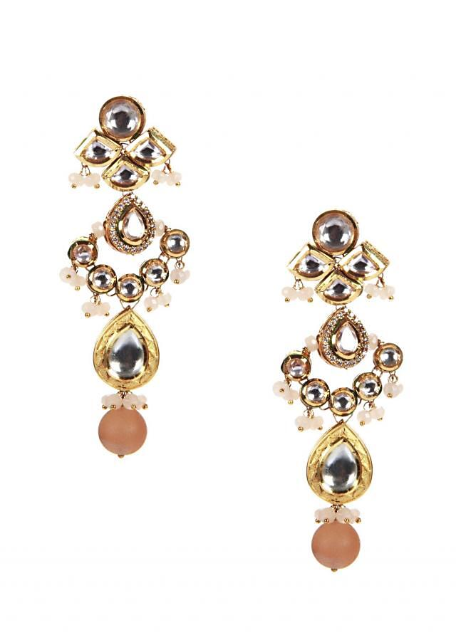 Kundan Danglers With Tourmalineonly on Kalki