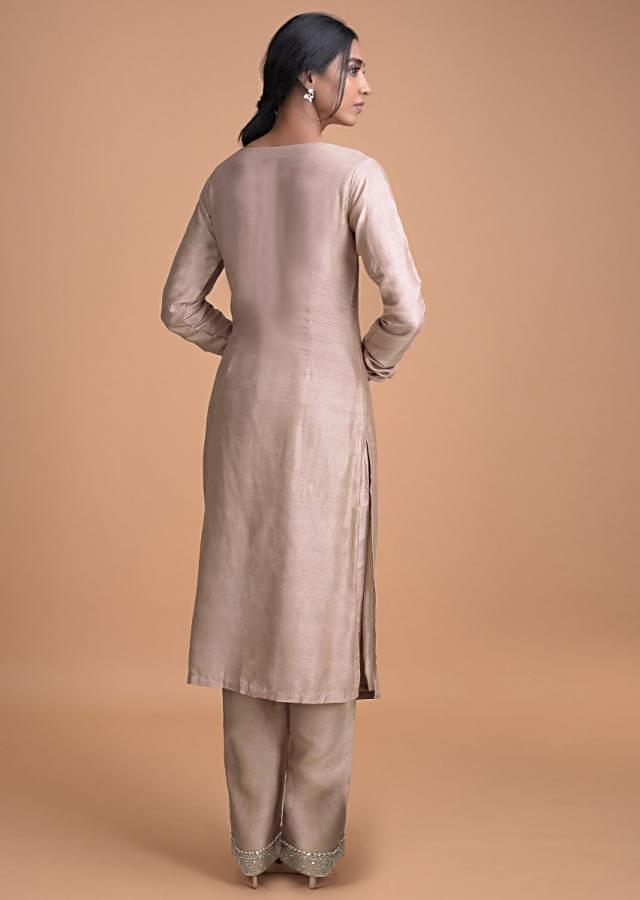 Lemonade Pink Straight Cut Suit With Geometric And Floral Embroidery  Online - Kalki Fashion
