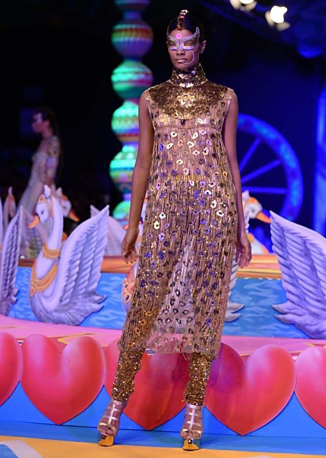 Manish Arora collection at the PCJ Delhi Couture week 2013 MA01